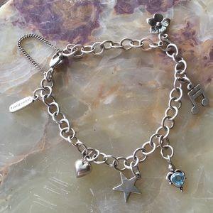 James Avery Charm Bracelet w/ JA Music Note & Star